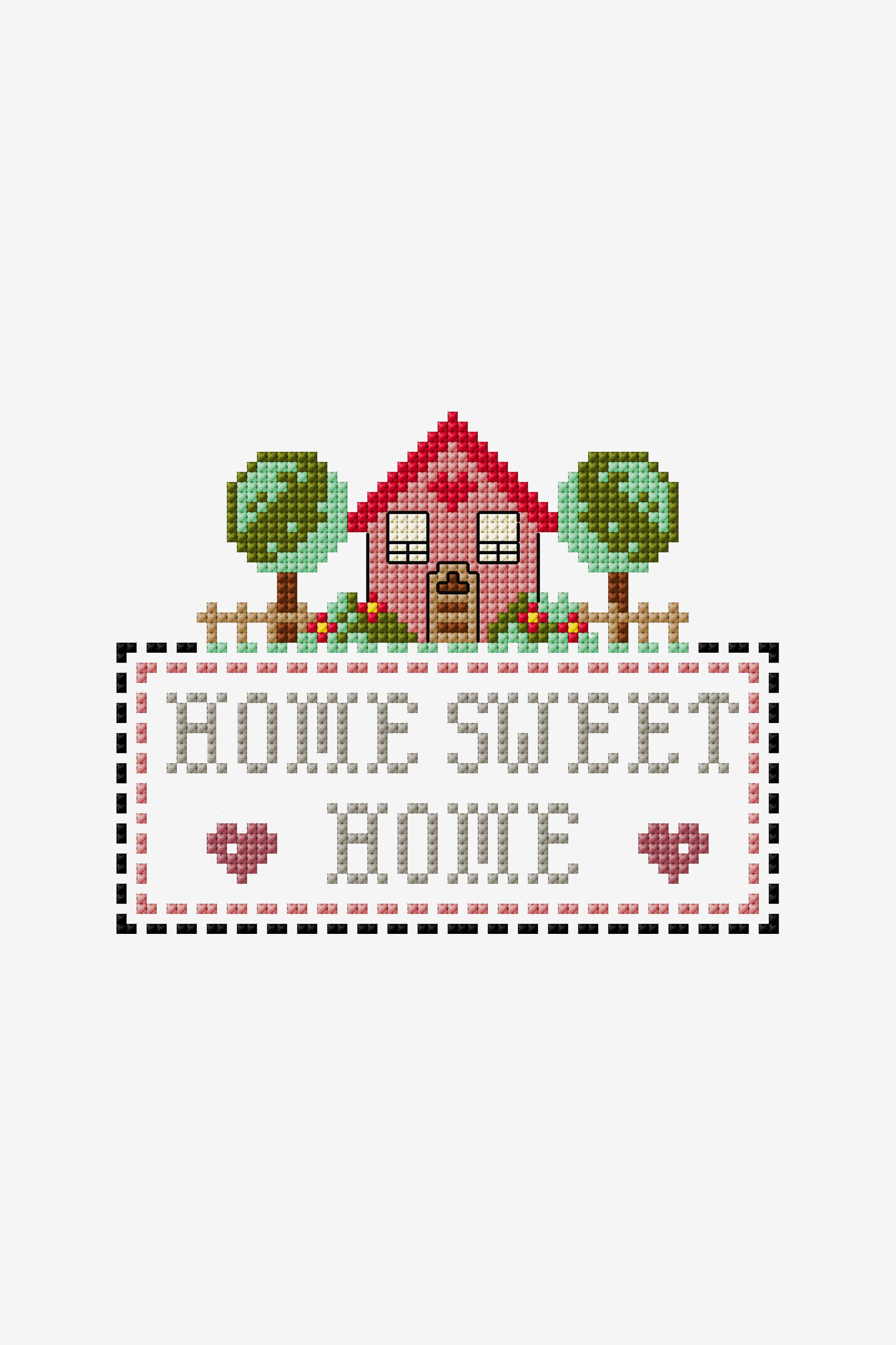 The Home Sweet Home Cross Stitch Pattern
