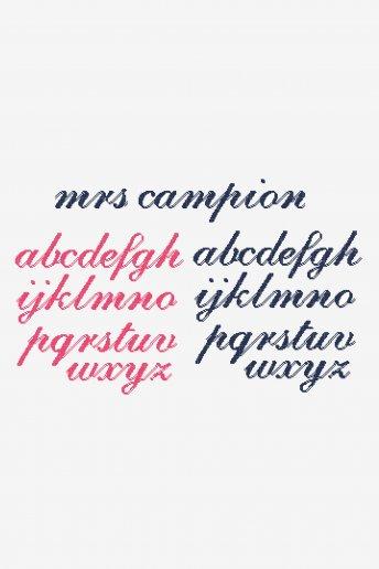 Romantic Script  pattern