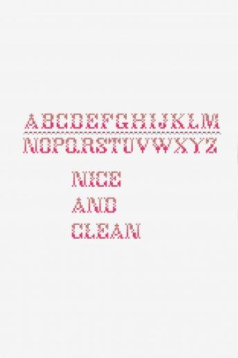 Personalize personalize 4 - alfabeto degradée - esquema