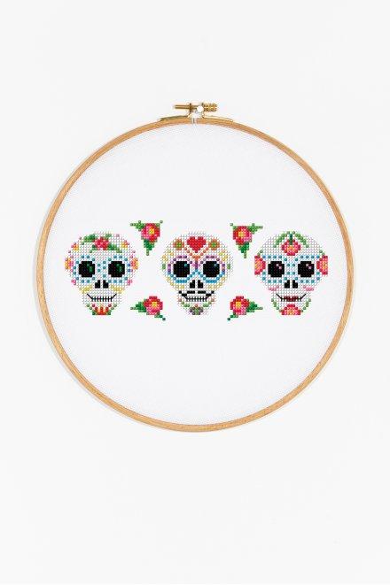 Le jour des morts mexicain - Diagramme point de croix