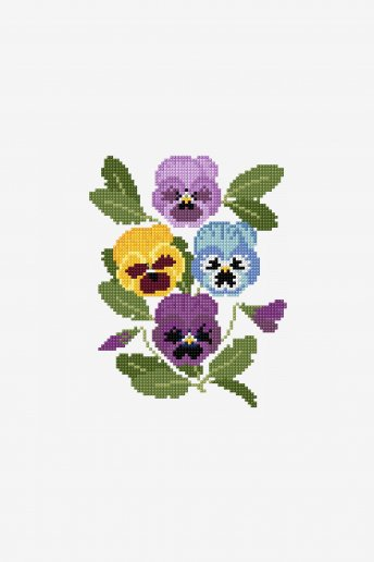 Decorative Pansies - pattern