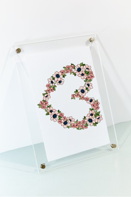Floral Heart  pattern