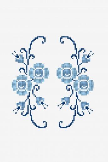 Gespiegelte Blume - Zählvorlage