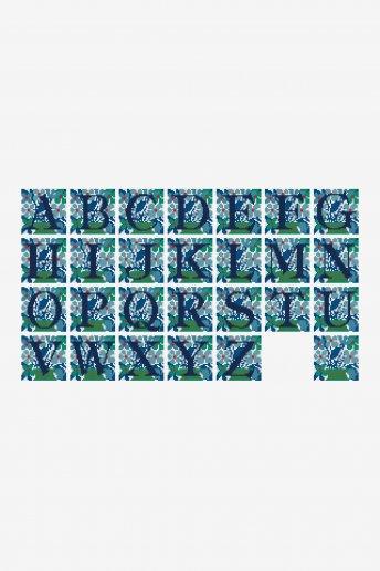 Floral Letters  pattern