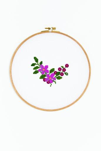 Mini bouquet - Diagramme point de croix