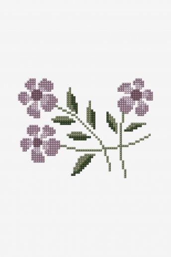 Fleurs sauvages - Diagramme point de croix