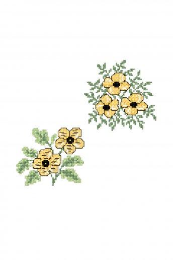 Grappe de boutons d'or - Diagramme point de croix