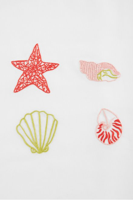 Les coquillages - motif broderie