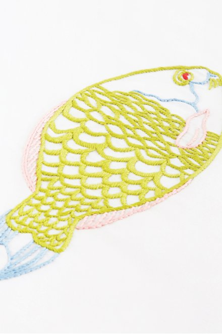 Le Poisson Tropical - motif broderie