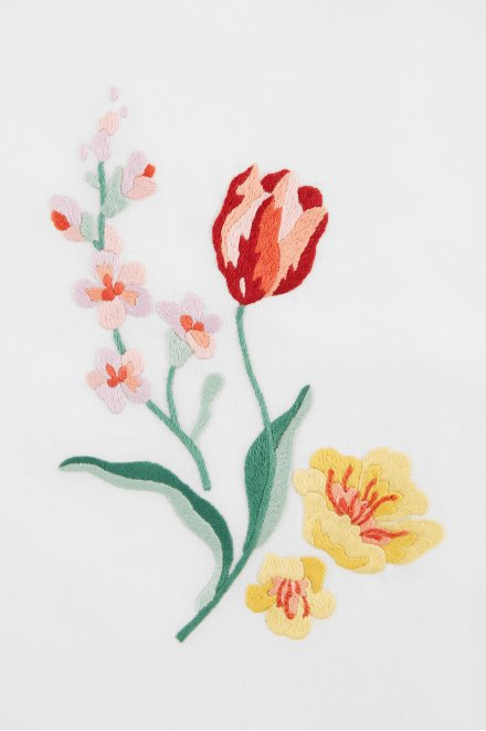 Garden Flowers Embroidery Pattern