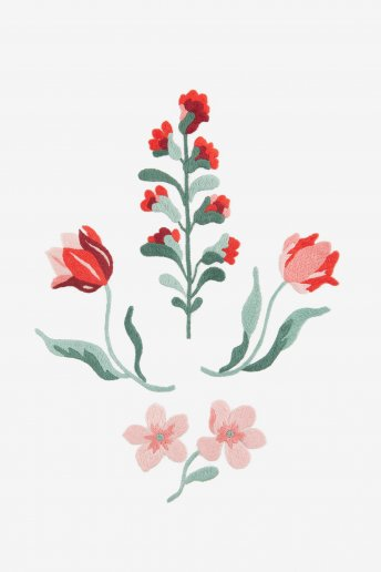 Red Wallflower - pattern