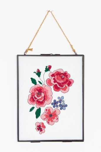 Roses grimpantes - Diagramme point de croix