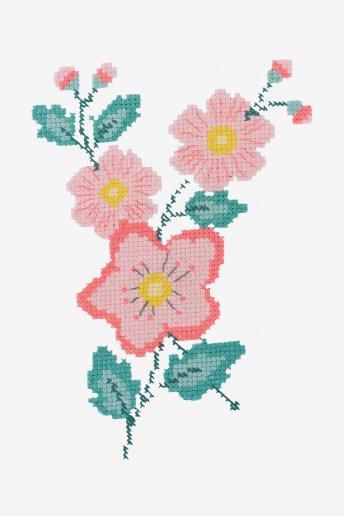Patrón de ganchillo Flores rosas