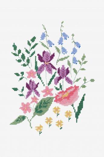 Patrón de ganchillo Seto floral