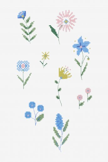 Folk Ditsy Flower - pattern
