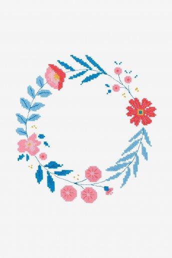 Patrón de ganchillo Corona de flores