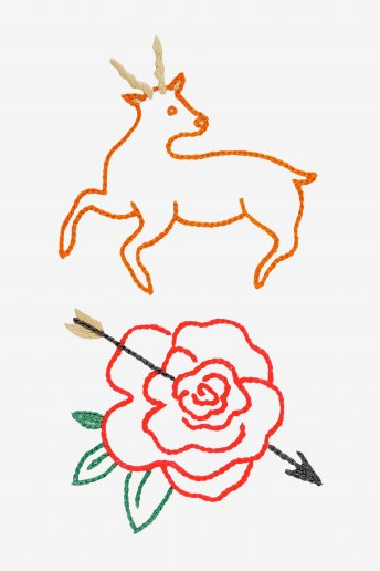 Deer and Rose  pattern