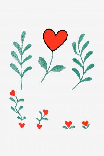 Plantes de l'Amour - motif broderie