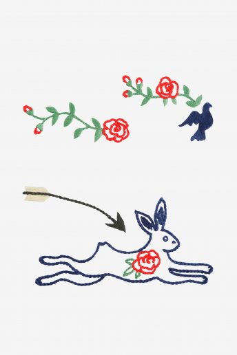 Rose and Hare  pattern