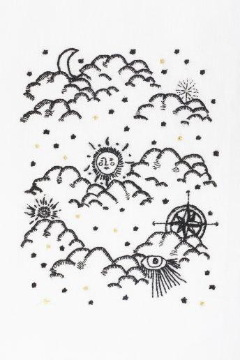 Un coup d'oeil au ciel - motif broderie