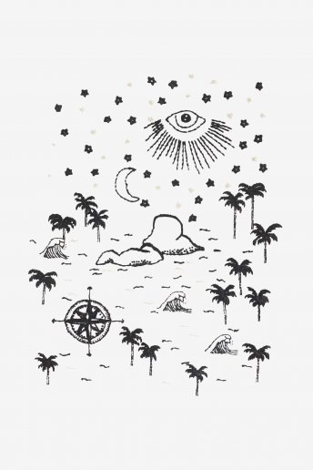 Es Vedra At Night - pattern