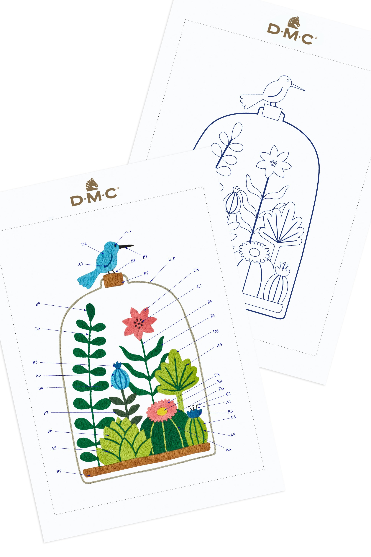 Bird House by Holly Maguire DMC Cross Stitch Kit