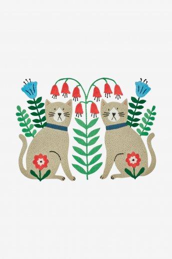 Gatos - Diagrama de bordado