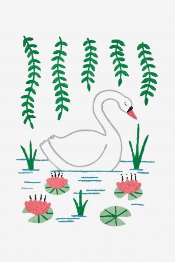 Cisne - Diagrama de bordado