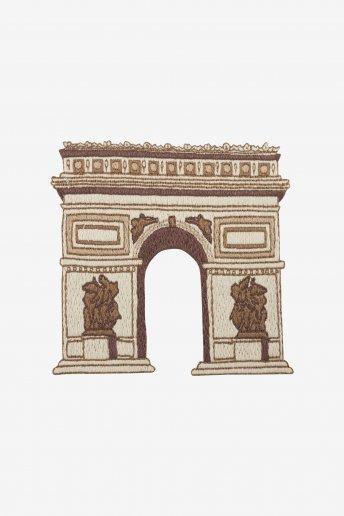 Diagrama de bordado Arco de Triumfo