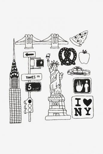 New York - motif broderie