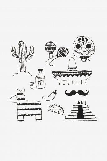 Mexique - motif broderie