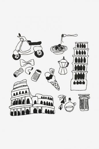 Mustergrafik Italien - STICKMOTIV