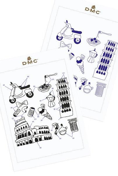 DIY Chart Counted Cross Stitch Patterns Needlework DMC Irresistible Italy