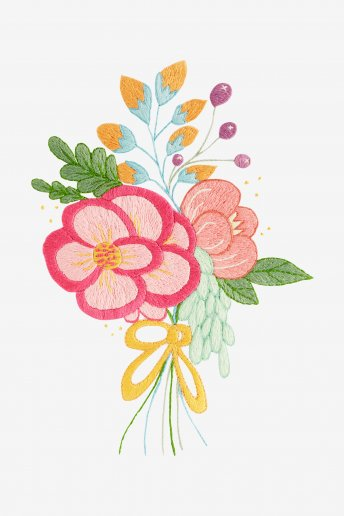 Pink Bouquet - pattern