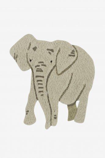 Eléphant - motif broderie
