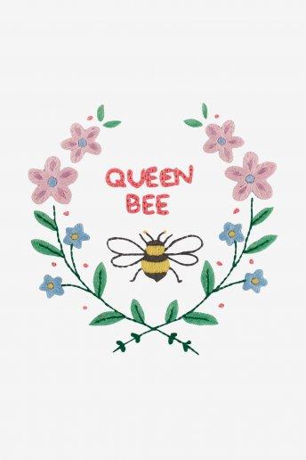La reine des abeilles - motif broderie