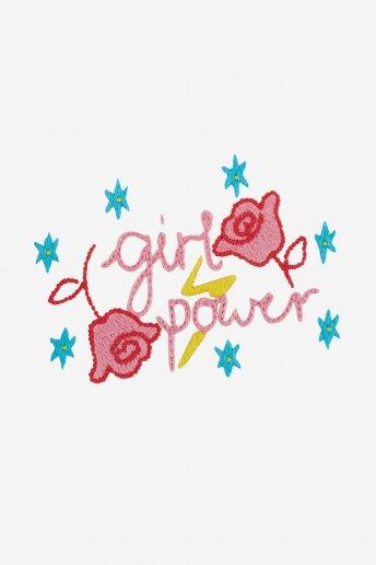 Le pouvoir des filles - motif broderie