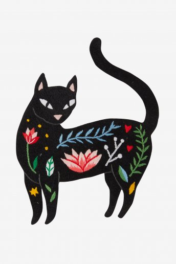 Chat - motif broderie