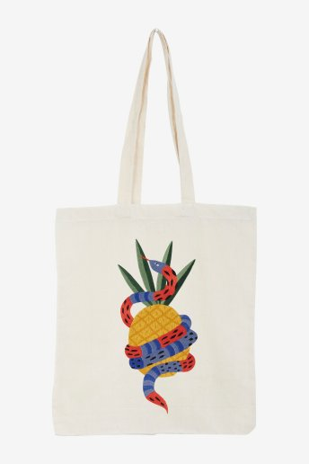 Serpent ananas - motif broderie