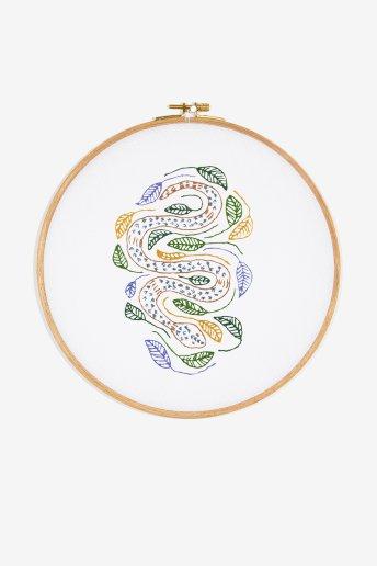 Serpent - motif broderie