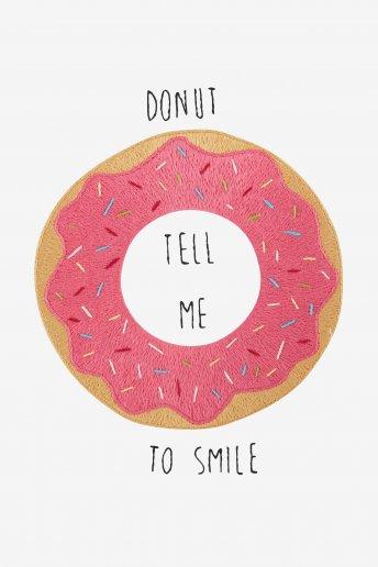 Ne me dis pas de sourire - motif broderie
