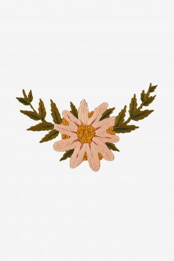 Blütenkragen - STICKVORLAGE - STICKMOTIV