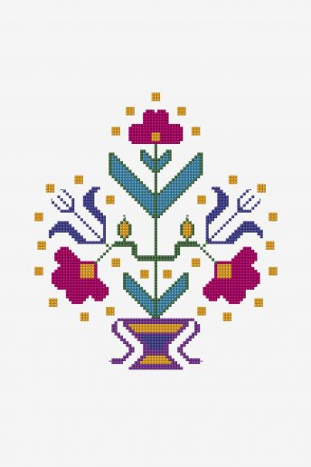 Symmetrical Turkish Flowers - pattern