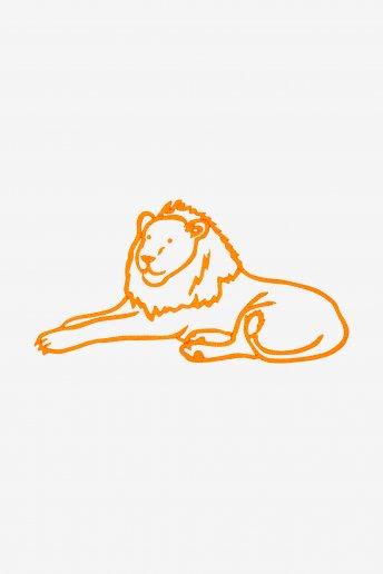 León - Diagrama de bordado