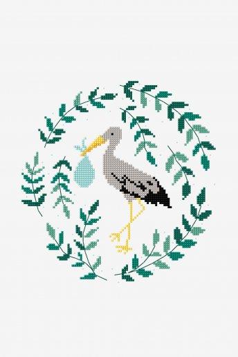 Stork - pattern