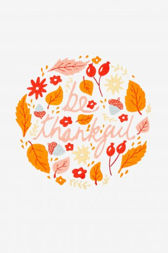 Be Thankful - pattern