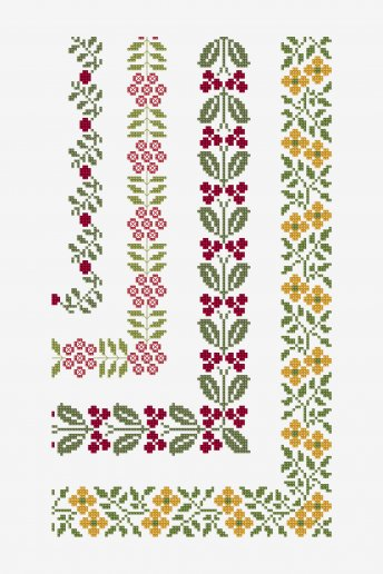 Ancient Floral Borders - pattern