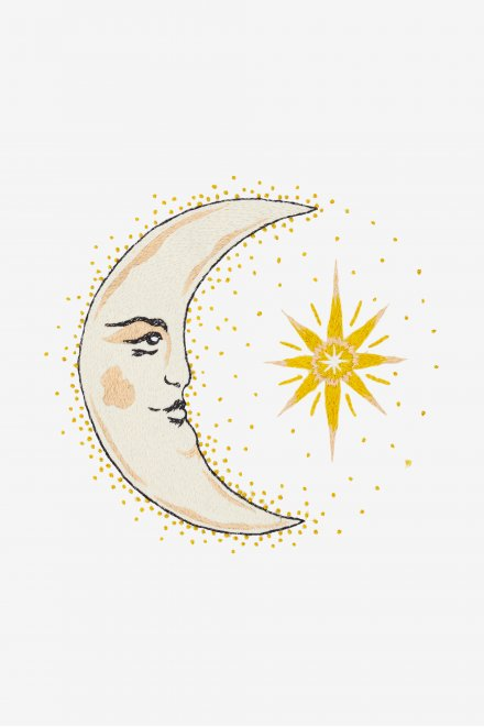 Goodnight Moon - pattern - Free Embroidery Patterns