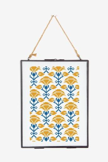Flores de primavera - Diagrama de punto cruz