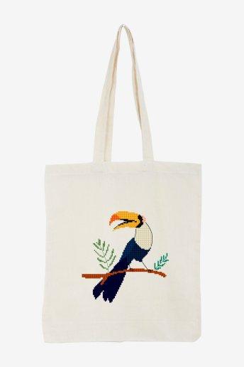 Toucan - motif point de croix